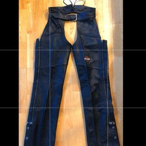 Genuine Harley Davidson Black Chaps Small